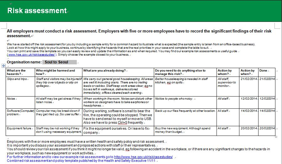 RiskAssessment Report  Lovelybom